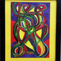 THE NEWTONIAN DELUSION – ABSTRACT ART WITH POEM. CHOICE OF MOUNT COLOURS