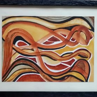 HIDDEN DRAGON – ABSTRACT ORIGINAL – CHOICE OF MOUNT COLOUR., AND A POEM.
