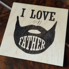 Wooden coaster a perfect gift for father grandfather stepfather Father's Day