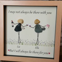 Best Friends Pebble Art - Besties Forever - Friend Gift - BFFs - Pebble Art Gift