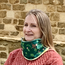 Snood Neck Warmer in GOTS Organic Cotton Monkey Jungle and choice of Fleece