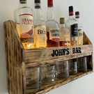 Personalised drinks bar , whiskey bar , rum bar , Father's Day gift