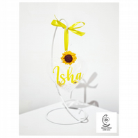Personalised Hanging with Sunflower Design