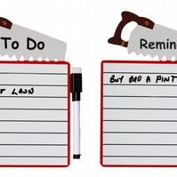 Fridge Magnet Dry Wipe Board, To Do or Reminder List, includes Pen with eraser