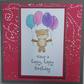 Bear with balloons card