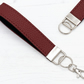 Leather Wristlet Fob In Wine