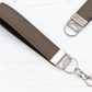 Leather Wristlet Fob In Mocha