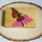 Hand Painted Wooden Trinket Box - Butterfly and Flower