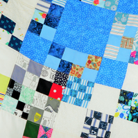 Multi-Paterned Patchwork Quilt, Vintage Style