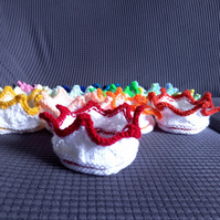 Knitted Crown: Any colour, sized 0-3 months.