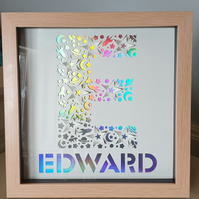 3D Pop up Stars and Space Themed Letter Box Frame