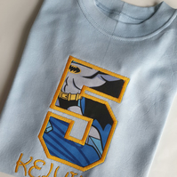 Boys Personalised 1st 2nd 3rd 4th 5th 6th birthday shirt the fifth birthday