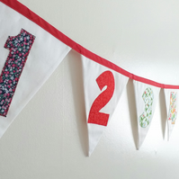 Number Line Bunting, Numbers 1 to 10 Bunting, Kids Playroom decor,