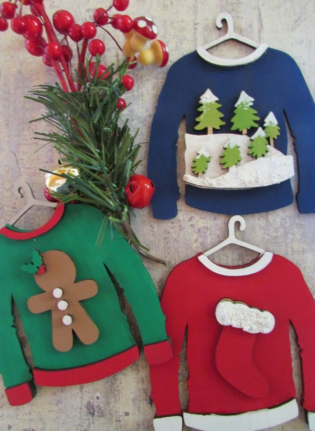 Personalised Christmas Jumper Decorations