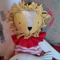 Lion and fish cloth art doll