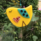 Fused Glass Yellow Bird