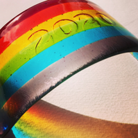 2020 Fused Glass Rainbow