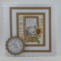 Cute bear 'Just for you' card