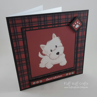 Westie dog best wishes card