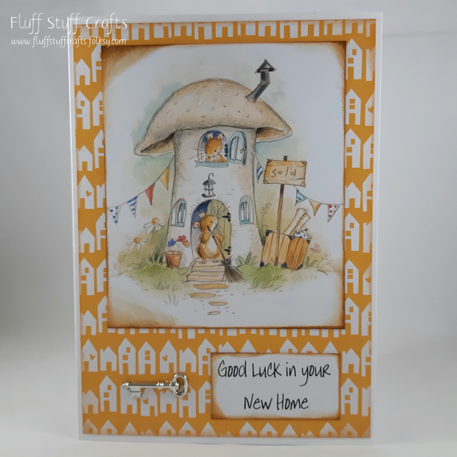 New home card - toadstool mice