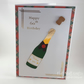 Handmade 60th birthday card - champagne bottle
