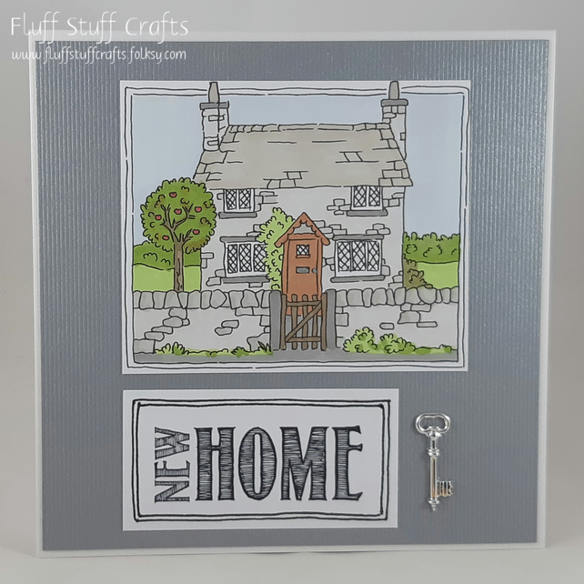 Handmade new home card - the country cottage