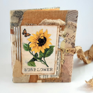 Handmade mini collage junk journal or notebook