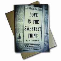 Love is the sweetest thing design greeting card