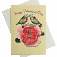 Valentine's day card - Love Me Like You Do -  artwork by Betty Shek