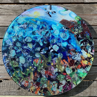 Great Barrier Reef Glass Chopping Board