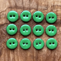 12 x Pea-Green Smartie Buttons - 15mm
