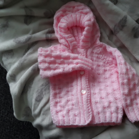 Girls aran hoody cardigan