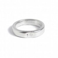 10 Years Wedding Anniversary 10 Stamped Signet Ring - 100% Pure Tin
