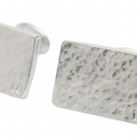 10th Wedding Anniversary Pure Tin 10 Rectangle Cufflinks