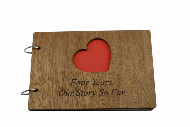 4th Anniversary Our Story So Far - Scrapbook, Photo album or Notebook Idea