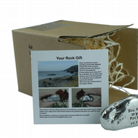 10th Anniversary You Are My Rock Gift Idea - Solid Metal Heavy Rock Gift