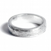 10th Anniversary Gift Tin Ring For Him - 100% Pure Tin Ring 'Ten Years'