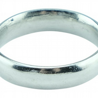 10th Wedding Anniversary Men's Plain Pure Tin Ring