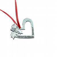 10th Anniversary Christmas Tree Ornament - Reads Our 10th Christmas Together