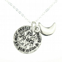 10th Wedding Anniversary I Love You To The Moon And Back Necklace - Unique