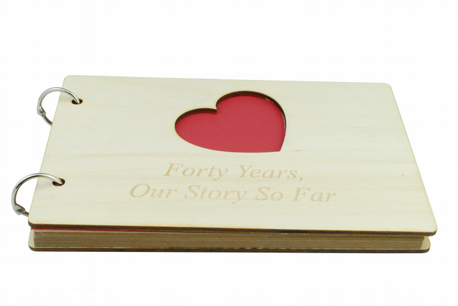 40th Anniversary Our Story So Far Scrapbook - DIY Scrapbook, Mementos, Memories