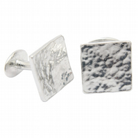 10th Anniversary Beaten Tin Square Cufflinks