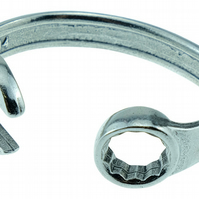 10 Year Anniversary Established 2010 Spanner Wrench Bangle Bracelet