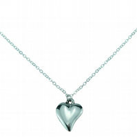 10th Year Wedding Anniversary Off Shaped Necklace - 100% Pure Tin