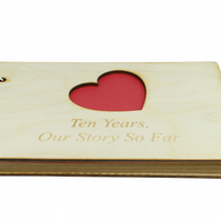 10th Anniversary Our Story So Far Scrapbook - DIY Scrapbook for Memories
