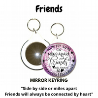 Friendship Mirror Keyrings - show that you care