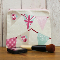 Bunting Flags Makeup Bag