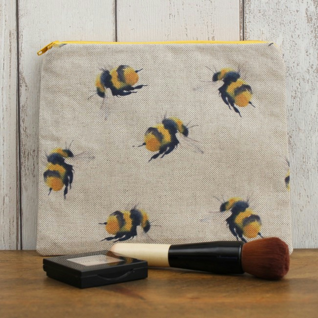 Bumblebee Print Makeup Bag