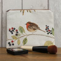 Robin Print Makeup Bag