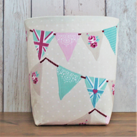 Bunting Flags Fabric Storage Bin